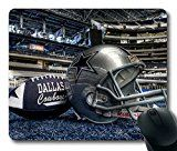 Popular Mouse Pad with Dallas Cowboy Non-Slip Neoprene Rubber Standard Size 9 Inch(220mm) X 7 Inch(180mm) X 1/8 Inch(3mm) Mousepads
