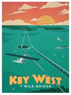 Vintage Key West Poster.