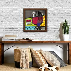 "Be it your #bedroom or your #studio #room for all you #music lovers ""#Sing - the #World needs your music in it."" These  #pop #art #frames #design will definitely be an eye-catcher in your #home. For further product details contact: hello@organizedchaos.in #inspiration #quotes #typography #comic #geometric #colors #quirky"