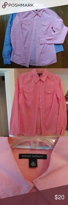 Like New! Banana Republic Button down Pink button down Banana Republic Tops Button Down Shirts