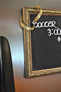 Decorative Gold Magnetic Chalkboard Frame by ReinventingOrdinary, $20.00