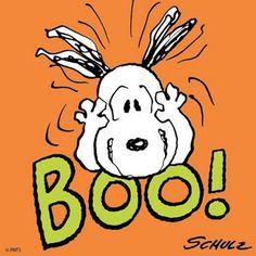 BOO! Snoopy on Halloween.