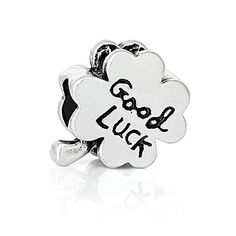 Good Luck Four Leaf Clover Bead Compatible for Most European Snake Chain Bracelets