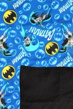 Batman Ready to Ship 6lb Weighted Blanket for Autism or Sleep Issues  by CuddleCritter