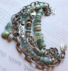 bracelet fluorite bracelet aquamarine bracelet chrysocolla