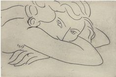 """""""Jeune femme le visage enfoui dans les bras"""" (1929) by Henri Matisse."""
