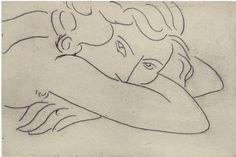 """aquaticwonder:  """"Jeune femme le visage enfoui dans les bras"""" (1929) by Henri Matisse."""