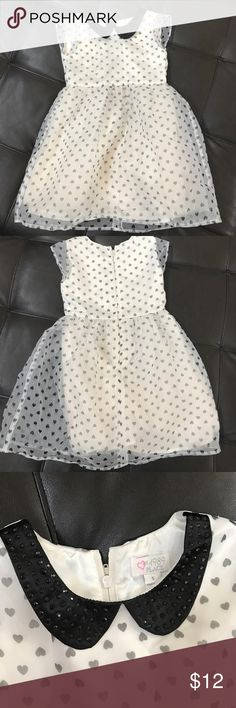 Off white and black little girls dress ✨Off white and black children's place little girls dress size 5 EUC ✨ Children's Place Dresses Formal