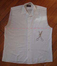 Tuto couture : Une jolie robe à partir d'une vieille chemise
