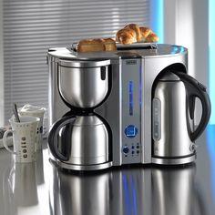 Amazon.de: BEEM Germany Ecco de Luxe 4-in-1, Frühstücks-Center: Kaffeemaschine, Wasserkocher und Toaster, Edelstahl-gebürstet