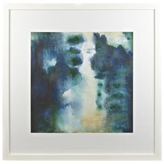 LIVING: Ocean Deep Print 108x108cm Buy the 2nd print to go with the one in your entrance and move both to the  wall that you were thinking the fireplace would go. $349  Would look amazing on a navy wall