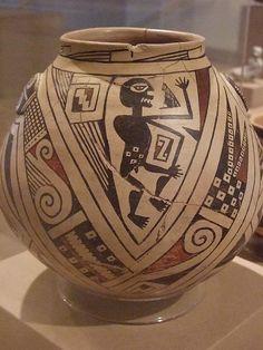 Ceramic Jar Ramos Polychrome type Mogollon culture Casas Grandes people Chihuahua Mexico 1280-1450 by mharrsch, via Flickr