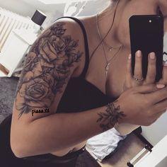 Roses tattoo tattooed arm