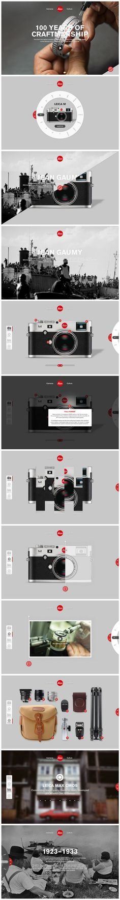Leica. The 10th module has very interesting and clean way of displaying a group of products. Maybe this could be used for inspiration. #website