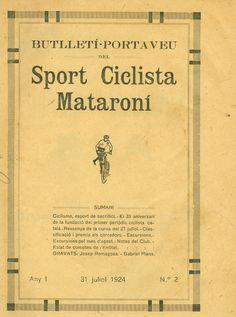 Butlletí porta veu del [sic] Sport ciclista mataroní  (1924-1934). Incomplet. Ciclisme