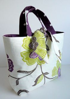 PDF Reversible Contrast Tied Tote Bag by LillyBlossom on Etsy, $7.25