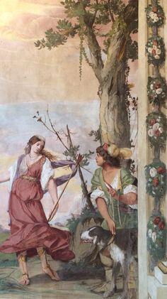 Stanza del Pastor Fido. Villa Caldogno(Caldogno, Vicenza). Affreschi di Battista Guarini.