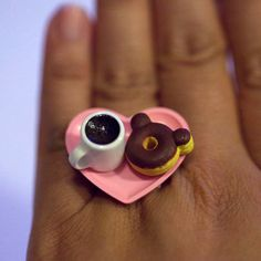 Kawaii Cute Japanese Miniature Food Ring  by fingerfooddelight, $12.00