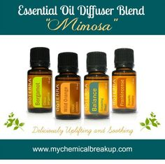 Essential Oil Diffuser Blend - Mimosa Mmmm... smells so bright and delicious!