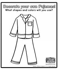 Image result for pajama coloring page