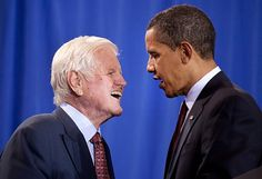 President Obama and Ted Kennedy at the signing of the Edward M. Kennedy Serve America Act which tripled the size of AmeriCorps. April 21 2009.