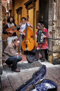 """Street Musicians in Bologna   """"a little little theatre"""" by Alessandro with Pin-It-Button on 500px"""