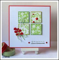 papiers Infocréa ; tampon Simply Graphic ; découpes offertes par Scrapbonheur ♥ ; dots, twine , couture