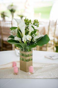 White Calla Lillies Centerpiece