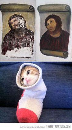 Jesus Cat…brahahahha!