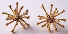 MikiandNora antique gold jacks earrings
