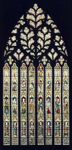 Stained glass window. Salisbury Cathedral