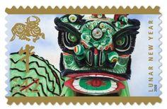 Lunar New Year dragon postage stamp