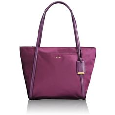 Tumi 'Voyageur - Small Q-Tote' Nylon Tote ($195) ❤ liked on Polyvore featuring bags, handbags, tote bags, aubergine, tumi tote, multi pocket tote, multi pocket tote bag, nylon handbags and purple tote bag