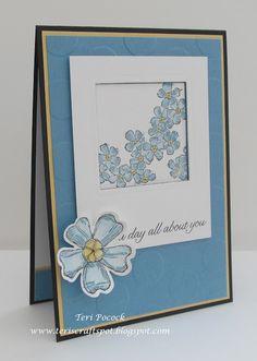 Stampin' Up! - Birthday Blossoms - Technique Card ....  Teri Pocock - http://teriscraftspot.blogspot.co.uk/2015/06/birthday-blossoms-technique-card.html