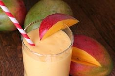 Mango Surprise Smoothie 1/4 cup of cubed mangoes 1/4 cup of ripe avocado, mashed 1/2 cup of mango juice 1/4 cup of fat-free vanilla yogurt 1 tablespoon of lime juice 1 tablespoon of sugar 6 ice cubes Add all the ingredients into the blender and blend until smooth.