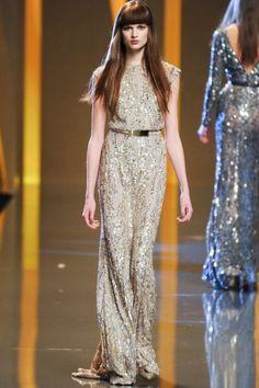 Elie Saab gown from 2012 Paris Fashion Week (on Bette Franke)