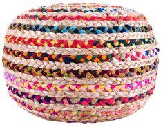 Caprice Round Handmade Pouf