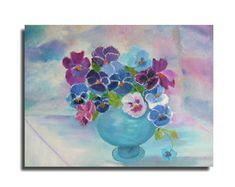 original oilpainting bluepurplevioletpansies in by Blumenmalerei, €50.00