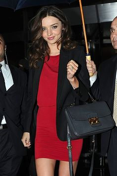 The Hottest Ramp-Worthy Bags of Miranda Kerr black Miu Miu Madras Crossbody Bag