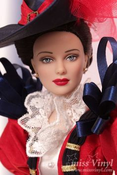 """Lady Emily"" - Tonner doll,       Dressed doll     Face includes hand-painted details     Fine quality vinyl and hard plastic     Daphne#2 head sculpt     16"" Antoinette™ body     Cameo skin tone     Painted blue eyes     Mink rooted saran hair   LE 100"