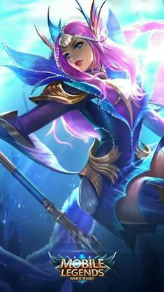 Mobile Legend Wallpaper, The Legend Of Heroes, Legend Games, Mobile Legends, Games Images, Mermaid Princess, Fantasy Characters, Anime Characters, Bang Bang
