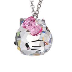 Fashion Stainless Steel Chain Austrian Crystal Necklace Pendants Cute Hello Kitty Jewelry Cat Necklaces For Women. Click visit to buy #PendantNeklace