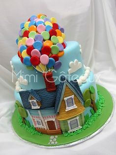"Cute ""UP"" cake but some characters added would be great."