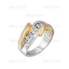 anillo estilo brillante en acero plateado inoxidable para mujer -SSRGG161980