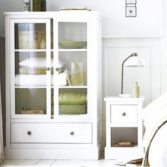 A cute linen cupboard...a perfect storage solution.