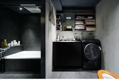 simple modern bathroom ( Keiji Ashizawa design ) - love the mysterious aura in the bath area Home Depot, Home Interior Design, Interior And Exterior, Loft House, Space Architecture, Contemporary Interior, Modern Bathroom, Bathroom Ideas, Furniture Design