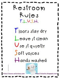 Restroom Rules Freebie