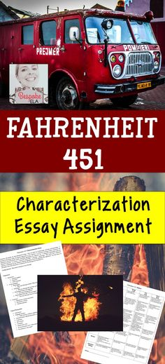 This product by Bespoke ELA contains a Characterization Essay Assignment for a unit on Fahrenheit 451 by Ray Bradbury, complete with assignment, rubric, sample essay, and brainstorming guides.  This assessment makes a great addition to a F451 unit in middle school and high school English Language Arts.  Common Core Aligned!