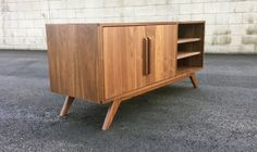 Mid century modern TV console credenza TV stand mcm by MonkeHaus