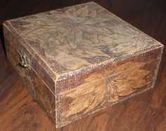 dating antique wooden boxes
